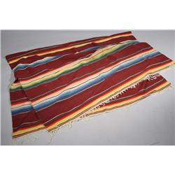A Mexican Wool Blanket.