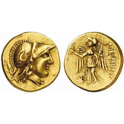 CELTIC COINS, THE ALPS AND EASTERN EUROPE, THE BOII, Stater, gold, early imitation of a stater of…