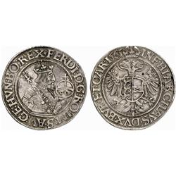 WORLD COINS. HOLY ROMAN EMPIRE. FERDINAND I, 1521-1564. Guldentaler, Klagenfurt, 1563. AR 24.15 g…