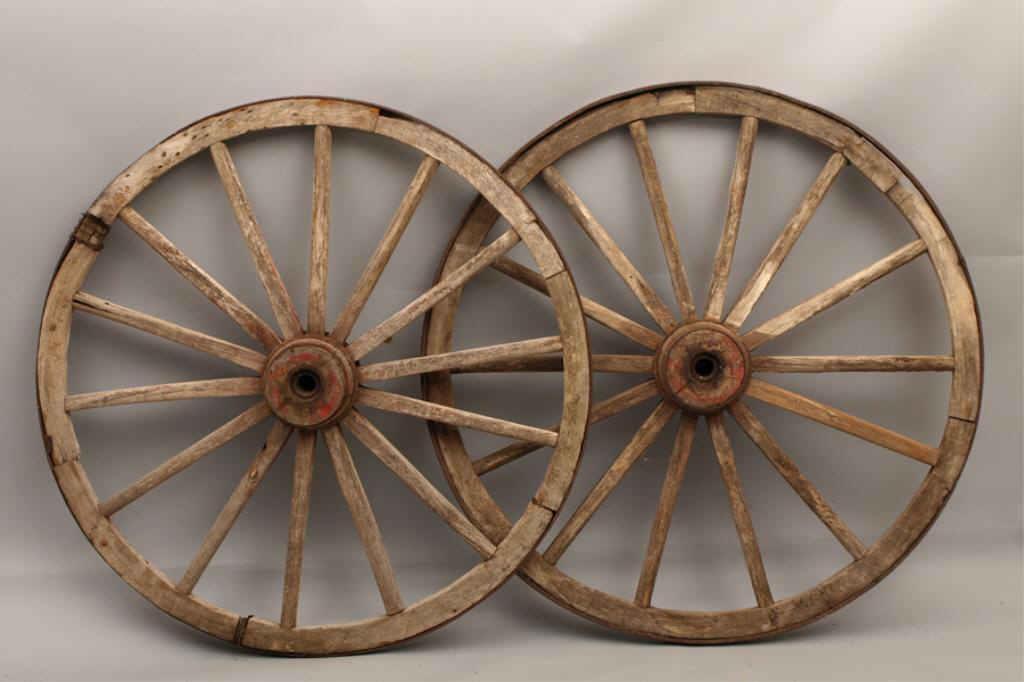 Pair Of Antique Wagon Wheels