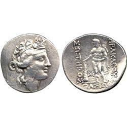 ANCIENT COINS. Greek. Thracian Islands, Thasos (after c.146 BC), Silver Tetradrachm, head