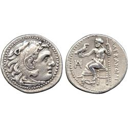 ANCIENT COINS. Greek. Kingdom of Macedon, Alexander III, The Great (336-323 BC), Silver Dr