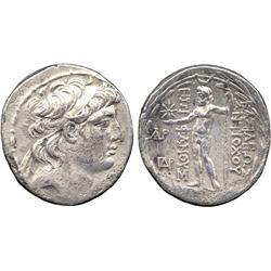 ANCIENT COINS. Greek. Kingdom of Syria, Antiochos VIII (121-96 BC), Silver Tetradrachm, Da