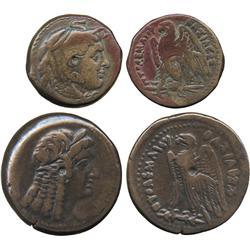 ANCIENT COINS. Greek. Kingdom of Egypt, Ptolemy II (c.285-246 BC), AE 23mm, head of Alexan