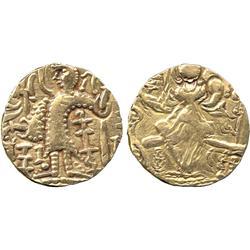 "ANCIENT COINS. Greek. Kidarite, ""Kidara"" type (late 5th Century AD), debased Gold Stater,"