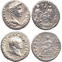 ANCIENT COINS. Roman. Augustus (27 BC - AD 14), Silver Denarius, Lugdunum, laureate head r
