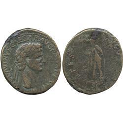 ANCIENT COINS. Roman. Claudius (AD 41-54), AE Sestertius, AD 41-42, [T]I CLAVDIVS CAESAR A