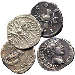 ANCIENT COINS. Roman. Antoninus Pius (AD 138-161), Silver Denarii (2), rev clasped hands w