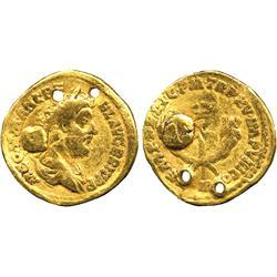 ANCIENT COINS. Roman. Commodus (AD 177-192), Gold Aureus, Indian imitation, M COMM ANT P F