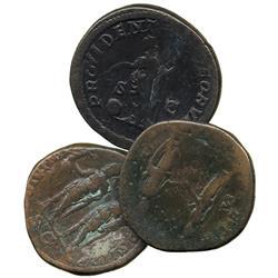 ANCIENT COINS. Roman. Commodus, AE Sestertius, rev Commodus and senator; Septimius Severus