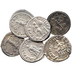 ANCIENT COINS. Roman. Septimius Severus, Silver Denarii (2), rev Aequitas, rev Victory; Ca