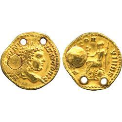 ANCIENT COINS. Roman. Caracalla (AD 198-217), Gold Aureus, Indian imitation, barbarised le