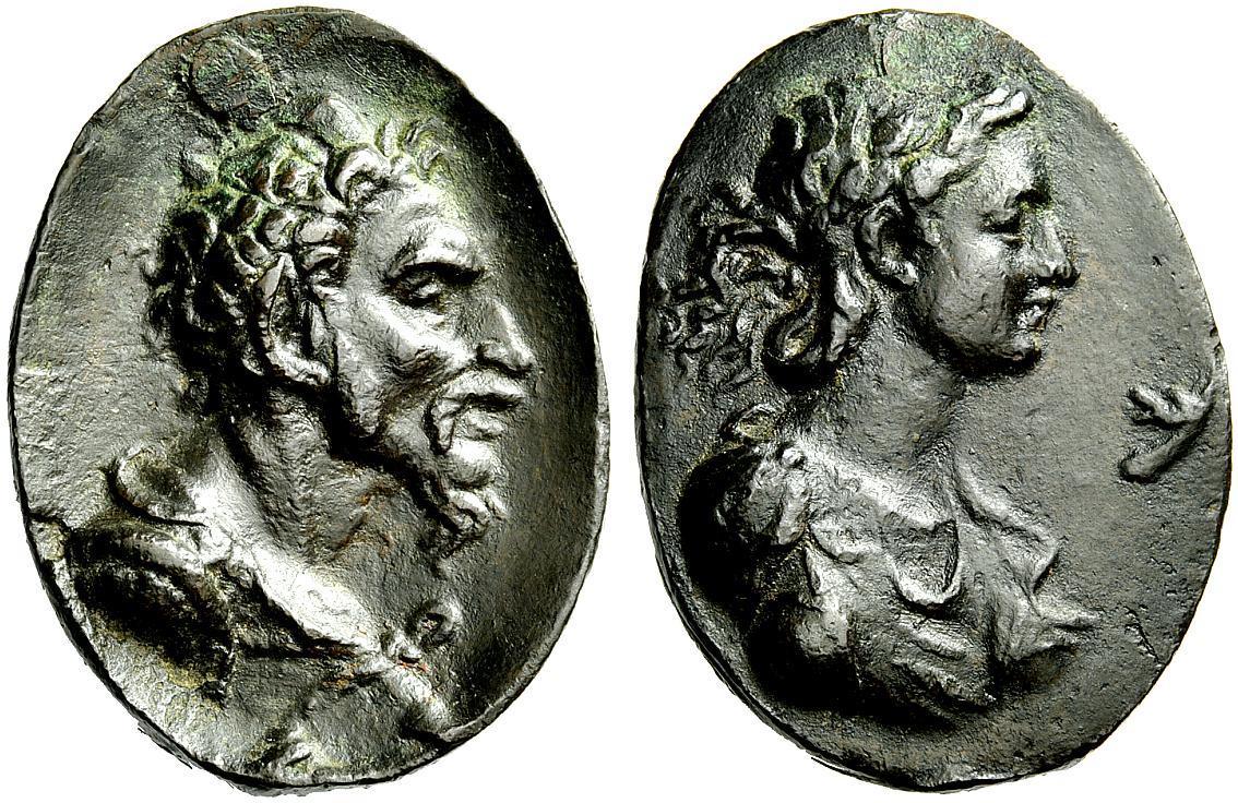 Placchette dall'antico. Placchette. Attila e Ildico