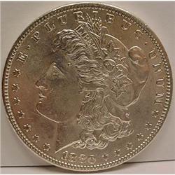 1880-P MORGAN SILVER DOLLAR - UNC.