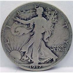 1917-P WALKING LIBERTY HALF DOLLAR