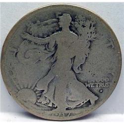 1917-D ON OBVERSE WALKING LIBERTY HALF DOLLAR