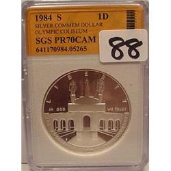 1984-S OLYMPIC COLISEUM SILVER COMMEMORATIVE DOLLA