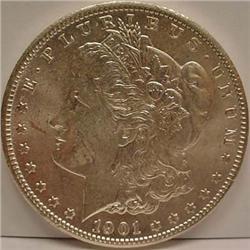 1901-O MORGAN SILVER DOLLAR - UNC.