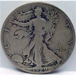 1929-S WALKING LIBERTY HALF DOLLAR