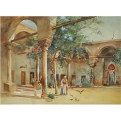 S. E. Lang (19th/20th Century) Moroccan Scene, Watercolor on Paper