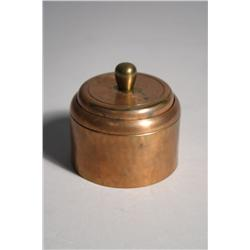 A Roycroft Copper, Brass and Glass Ink Well.