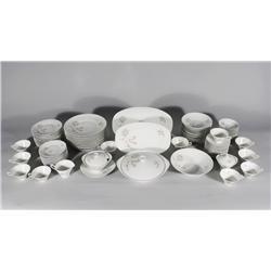 A Set of Hutschenreuther Porcelain Dinnerware, Forest Rose Pattern.