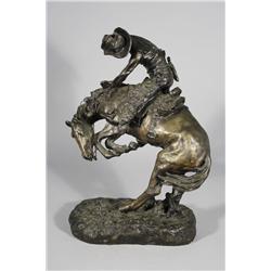 A Frederic Remington (1861-1909, American) 'Rattlesnake' Bronze Recast.