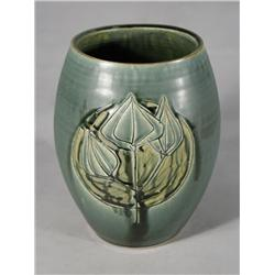 An Arts and Crafts Style Earthenware Vase.