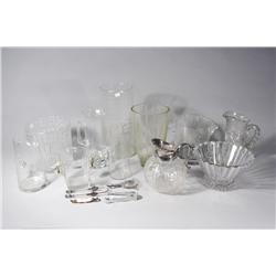 A Collection of Crystal and Glass Decorative Items.