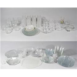 A Collection of Miscellaneous Crystal and Glass Dinnerware.