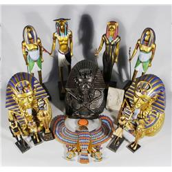 A Collection of Miscellaneous Decorative Egyptian Items.