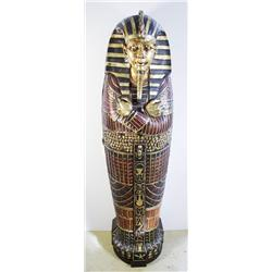 A Reproduction Life Size Sarcophagus Form Cabinet.