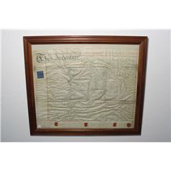 A Framed Historical Indenture.