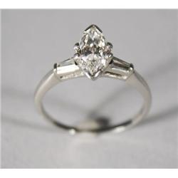 A Ladies Platinum and Marquise Diamond Ring.