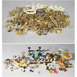 A Collection of Miscellaneous Costume Jewelry, Together with a Carved Meerschaum Pipe.