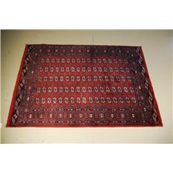A Bukhara Wool Rug.