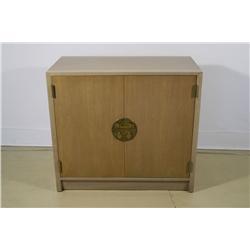 An Edward Wormley for Dunbar Chinese Walnut Two-Door Cabinet.