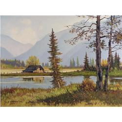 George A. Horvath Canadian [b. 1933]AUTUMN SERENITY; 1992oil on canvas18 x 24 in. (45.7 x 61 cm)sign