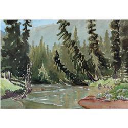 Margaret Dorothy Shelton Canadian ASA, CPE, CSGA [1915-1984]40 MILE CREEK; 1945watercolour on paper1