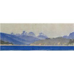 Walter Joseph Phillips Canadian ASA, CPE, CSPWC, MSA, RCA [1884-1963]AGAMEMNON CHANNEL; 1936colour w