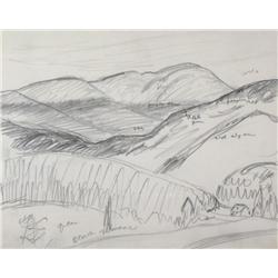 Lawren Stewart Harris Canadian BCSFA, CGP, G7, OSA, RCA [1885-1970]WHITE MOUNTAINS, NEW HAMPSHIRE (F
