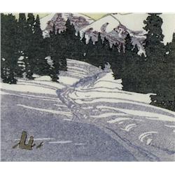 Walter Joseph Phillips Canadian ASA, CPE, CSPWC, MSA, RCA [1884-1963]TRAIL FROM SKOKI; 1943colour wo