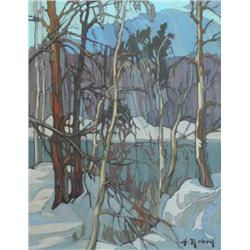 Gaston Rebry Canadian [1933-2007]SILHOUETTES AU BORD; 1988oil on canvas18 x 14 in. (45.7 x 35.6 cm)s