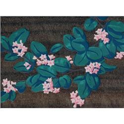 Alfred Joseph Casson Canadian CGP, CSPWC, G7, OSA, RCA [1898-1992]PINK FLOWERSMONEYWORTcolour serigr