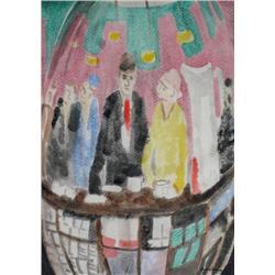 John Harold Thomas Snow Canadian ASA, CSGA, RCA [1911-2004]COUPLE AT THE BARwatercolour on paper14 x