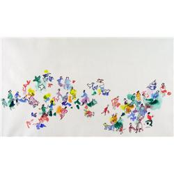 Janet Mitchell Canadian ASA, CSPWC, RCA [1912-1998]THE PLAYGROUNDwatercolour on paper14.25 x 25 in.