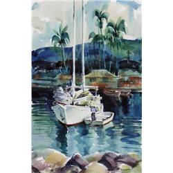 Ronald Threlkeld Jackson Canadian BCSA [1902-1992]SAILING BOATS, HAWAIIwatercolour on paper20 x 13 i