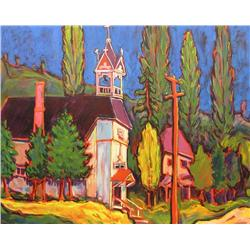 Nedjo Jovanetic Canadian [b. 1940]CHURCHoil on canvas40 x 60 in. (101.6 x 152.4 cm)