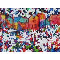 Janet Mitchell Canadian ASA, CSPWC, RCA [1912-1998]THEY ROAM THE STREETS AT WILL; 1978oil on canvas3