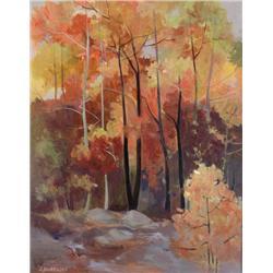 Lorna Dockstader Canadian FCA, PSC [b. 1947]FALL TAPESTRY (ALGONQUIN PARK); 2002oil on canvas20 x 16
